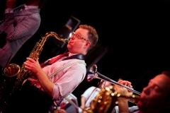 James on tenor sax